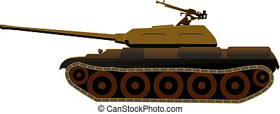 Tank T-34 in the deserted disguise