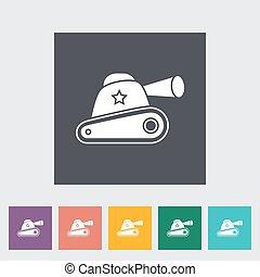Tank toy flat icon