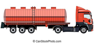 Tank truck - The tank with a truck on a white background