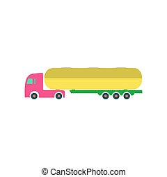 Tank truck Icon Vector. Flat simple color pictogram
