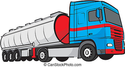tank truck - large truck - transport and cargo