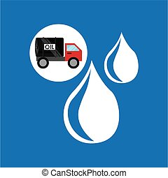 tank truck oil drop icon vector illustration eps 10