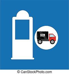 tank truck oil gasoline pump vector illustration eps 10