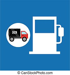 tank truck oil industry gasoline vector illustration eps 10