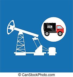 tank truck oil pumping graphic vector illustration eps 10