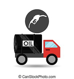 tank truck oil station gas vector illustration eps 10