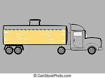 Tank truck. - Vehicle for transportation of petroleum...
