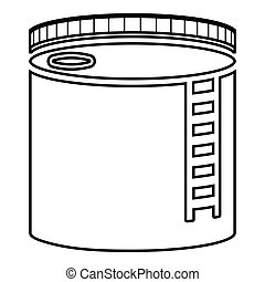 Tank with oil Oil storage tank Heating oil icon black color vector illustration flat style image
