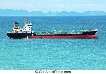 Tanker in the sea