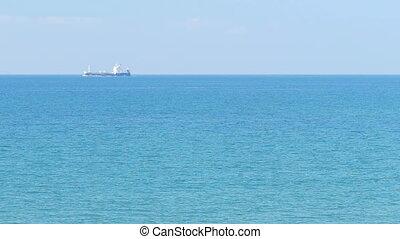 Tanker ship - Industrial ship in the Mediterranean
