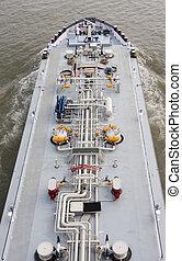 Tanker Ship on Rhine River, Germany