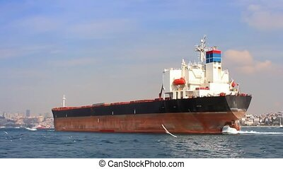 Tanker ship on route to Black Sea