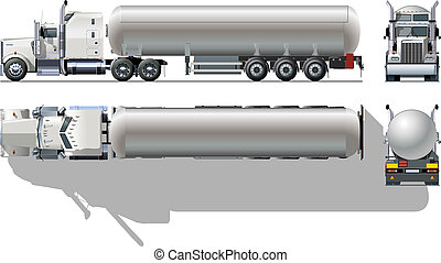 detailed tanker truck Available EPS-10 separated by groups and layers for easy edit