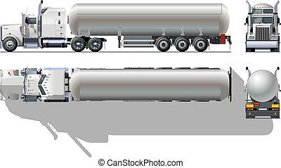 Tanker truck - detailed tanker truck Available EPS-10...