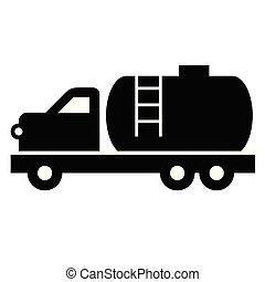 Tanker truck flat illustration on white