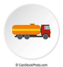 Tanker truck icon circle
