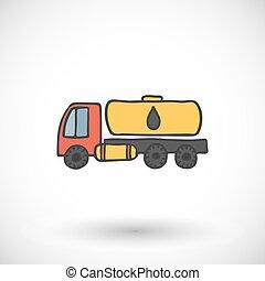 Tanker truck icon. Vector illustration.