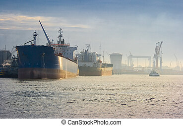 Tankers in harbour
