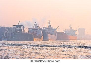 Tankers in port