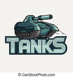 tanks banner illustration design