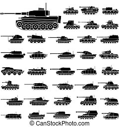 Tanks - Layered vector illustration of German Tanks which be...
