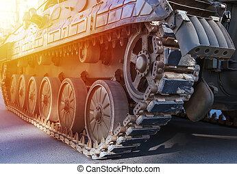 Tanks close up detail. Detail of Army Tank