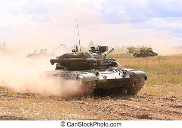 tanks rides on the field