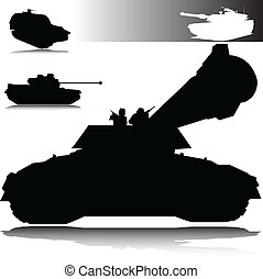tanks vector silhouettes