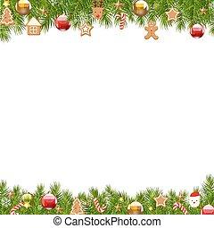 tanne, umrandungen, baum, weihnachten