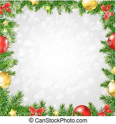 tanne, umrandungen, bokeh, baum, weihnachten