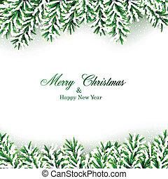 tanne, weihnachten, frame.