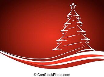 tanne, weihnachtskarte