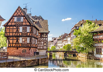 tanners,  Strasbourg,  petite, casa, distrito, França