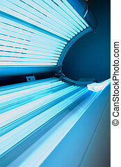 Tanning bed at tanning salon