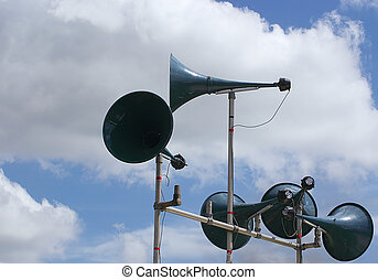 tannoy speakers against the sky