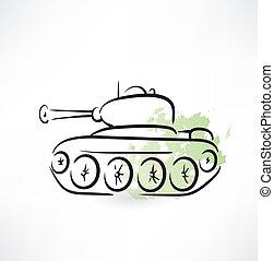 tanque, ícone