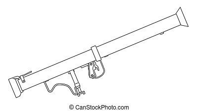tanque, anti, bazooka, arma
