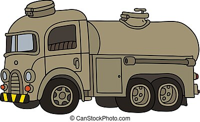 tanque, caminhão velho, engraçado, militar, areia
