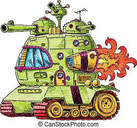 tanque, cohete