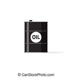 tanque, combustible, barril, químico, contenedor, lata, icono, aceite