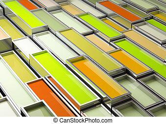 tanque, cromo, imagen, pintura, verde, multa, 3d