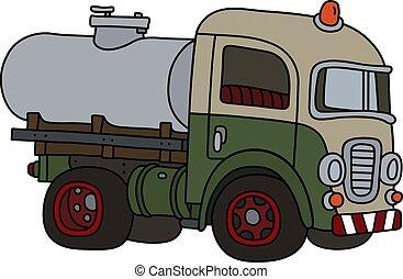 tanque, engraçado, caminhão velho