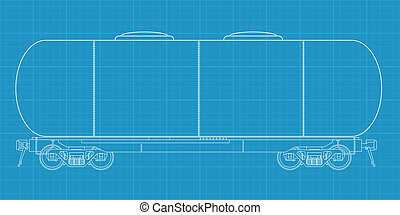 tanque gasolina, ferrovia, vagon