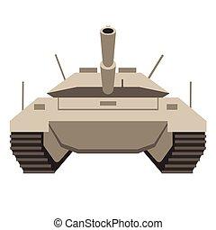 tanque, plano, ilustración
