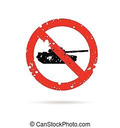 tanque, veículos, ilustração, sinal, militar, vermelho
