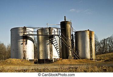 tanques de almacenaje de aceite