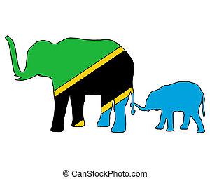 tansania, elefanten