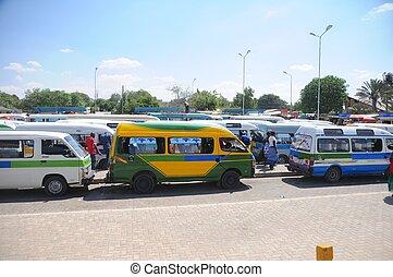 tansania, lokal, transport