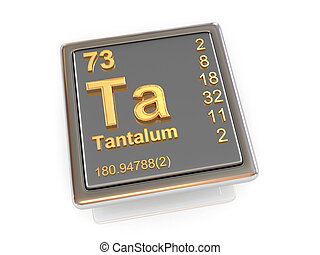 Tantalum. Chemical element.