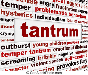 Tantrum emotional behavior concept. Difficulties in children...
